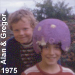 Alan with his uncle, Gregor Stewart