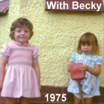 Fiona with cousin, Becky Stewart