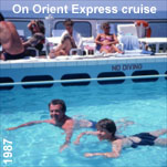 In water, on water; the Orient Express cruise liner